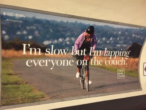 Photo of billboard seen in London Tube